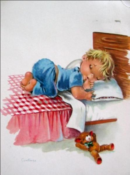 Michel se rasait pour plaire à Madame, mais Dieu lui ordonna de ne plus se raser avant d'aller se coucher, et depuis ...