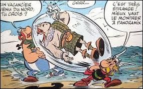Quel est le nom de ce personnage dans ce gros glaçon porté par Astérix et Obélix ?