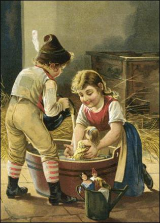 Dieu ordonne à Pauline et Bernadette de faire la vaisselle et aussitôt ...