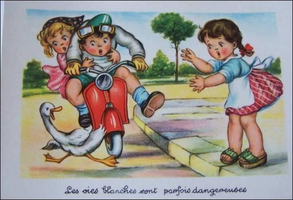 John arriva comme un fou avec sa Harley et ne vit pas les deux pauvres nones qui traversaient le passage clouté, alors Dieu hurla ...