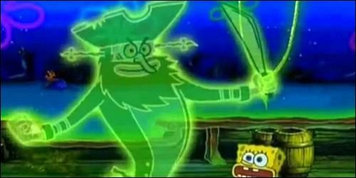 """Dans l'épisode """"C'est pas drôle d'être un fantôme"""", qui transforme Bob et Patrick en fantôme ?"""