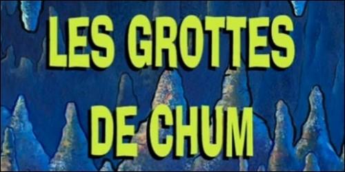 """Dans l'épisode """"Les Grottes de Chum"""", qui découvre une grotte magnifique en-dessous du Crabe Croustillant ?"""