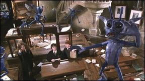 Dans  Harry Potter et la Chambre des Secrets , sur quelle créature magique Hermione Granger lance-t-elle l'incantation du sortilège de Blocage, qui est Immobulus ?