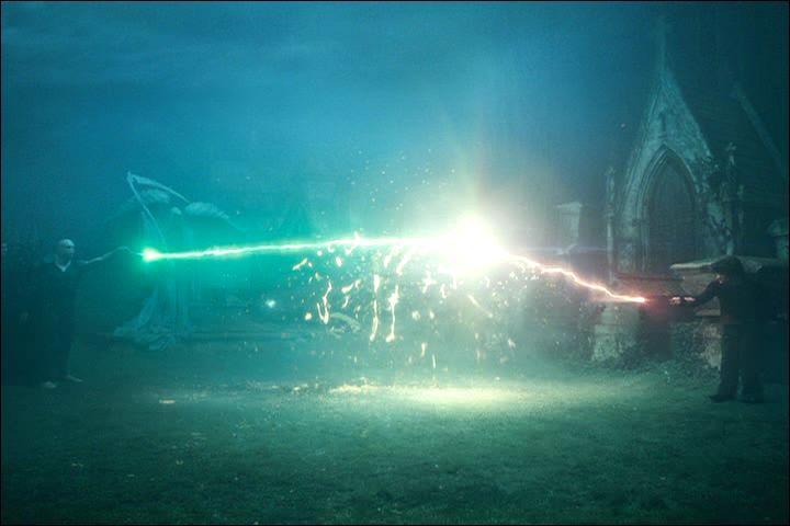 Dans  Harry Potter et la Coupe de feu , un fait très rare, appelé la remontée des sortilèges, se produit lors du duel entre Harry Potter et Lord Voldemort. Albus Dumbledore appellera cela Priori Incantatum. Cette situation est possible dans la mesure où deux baguettes qui ont le même élément se rejoignent. Quel est le cœur des baguettes magiques de Harry Potter et de Lord Voldemort ?