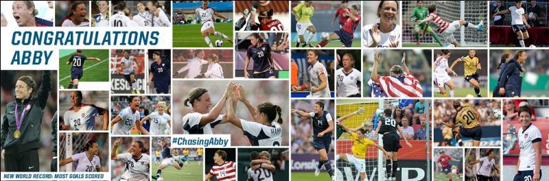 Avec combien de buts Abby Wambach détient-elle le record de buts en sélection ?