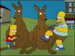 Quel animal Bart emmène-t-il dans son sac lors d'un voyage en Australie ?