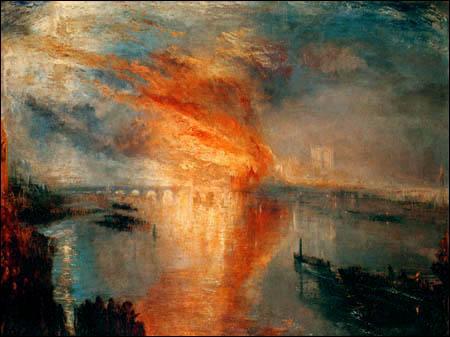 Qui a peint  Le feu au parlement  ?