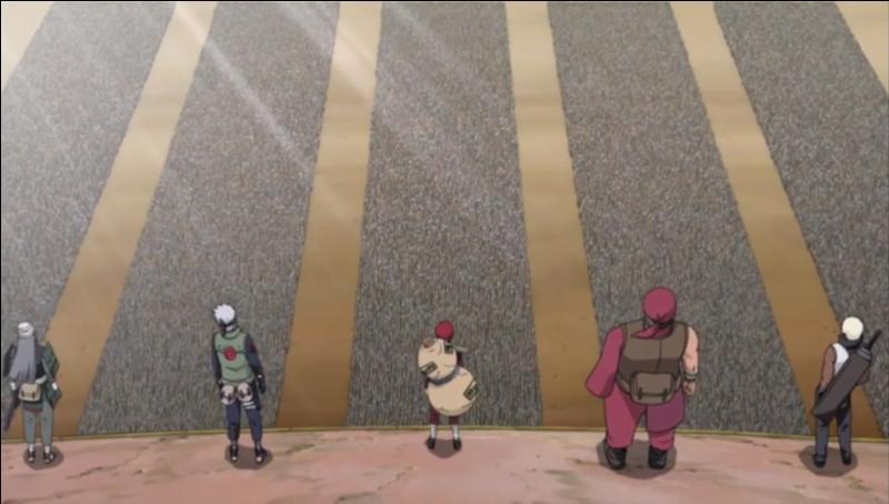 Quelle est la première chose qu'il dit quand il vient à la Grande Guerre Shinobi ? (lire les scans)