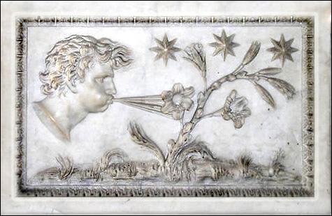 Quelles sont les divinités grecques des vents et dans quel sens agissent-elles ?