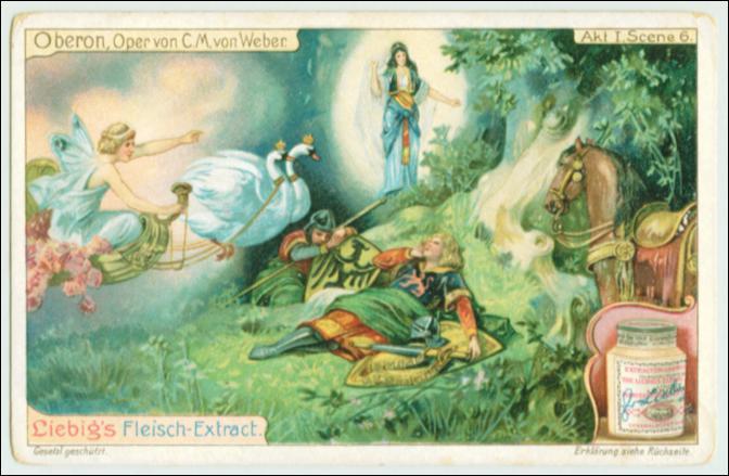 Qu'est-ce qui a présidé au livret de l'opéra  Obéron  de Weber ?