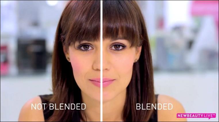 Quel côté de la photo est mal réalisé en matière de maquillage ?