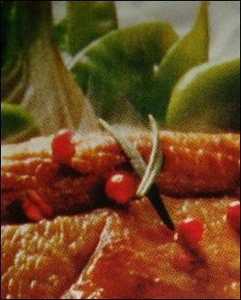 Une recette de saison avec de tendres légumes : tendron/flanchet/poitrine de veau mariné au romarin accompagné de -------- gourmands, ---------, et ----------- frais rissolés.