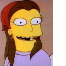 Quel est le nom de cette femme qui est devenue amie avec Marge Simpson et qui était leur voisine dans un épisode ?