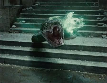 Dans  Harry Potter et les reliques de la mort (Partie II) , Ron Weasley tente de tuer Nagini, un horcruxe du Seigneur des Ténèbres, mais sans succès. Pour quelle raison ?