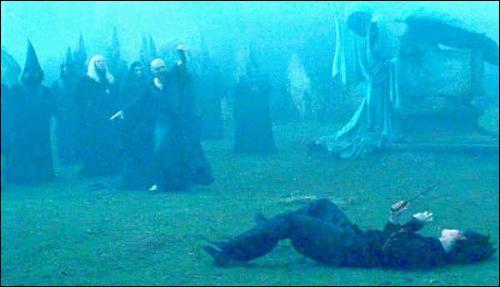 Le Sortilège Impardonnable Doloris a pour incantation magique Endoloris. Quel est le nom du cimetière où Lord Voldemort utilise ce sort sur Harry Potter, lors du retour du Seigneur des Ténèbres, dans  Harry Potter et la Coupe de feu  ?