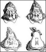 Dans une caricature d'époque très connue parue dans un journal satirique, le roi est représenté avec une drôle de tête. A quel fruit ou légume le compare-t-on ?