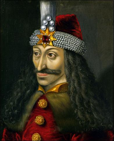 Pour son roman  Dracula , Bram Stocker s'était inspiré en partie d'un personnage historique, Vlad III Basarab prince de Valachie (en 1448, puis de 1456 à 1462 et en 1476). Plus connu sous le nom de :