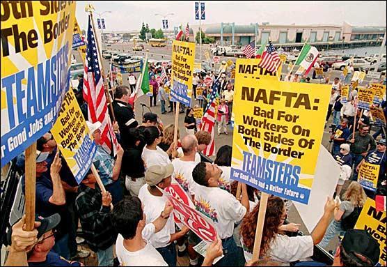 Depuis quelle année l'accord de libre-échange nord-américain facilite t-il les échanges entre le Canada, les Etats-Unis et le Mexique ?