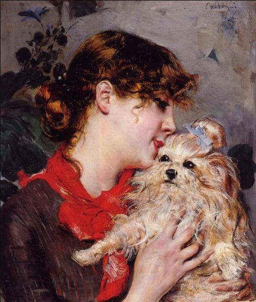 """Gabrielle Réju, dite Réjane, était, avec Sarah Bernhardt, une des comédiennes les plus populaires de la Belle Epoque. Quel peintre portraitiste l'a représentée sur cette toile intitulée """"Madame Réjane"""" ?"""