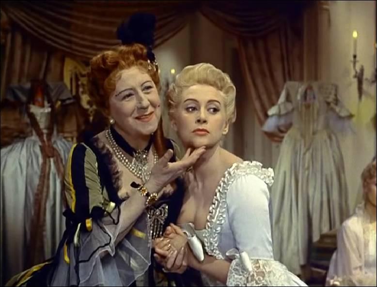 """Actrice française ayant débuté au théâtre, Gabrielle Dorziat (à gauche sur l'image) joua dans de nombreux films dont """"Madame du Barry"""" de Christian- Jaque, sorti en 1954. Qui tenait le rôle titre de ce film ?"""