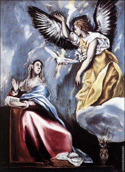 """Quel peintre du 16e siècle a représenté l'Archange Gabriel dans ce tableau intitulé """"L'Annonciation"""" ?"""