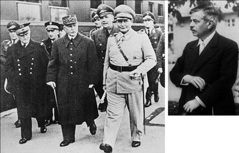 Le 6 mars, deux personnes se rencontrent dans la forêt de Randan (14km de Vichy). L'une d'entre elles voulait faire le bilan de de sa rencontre qu'il venait d'avoir avec Göring. Qui sont ces deux personnes ?