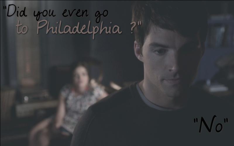 Épisode 16 : Comment Aria sait-elle qu'Ezra n'est pas allé à Philadelphie ?