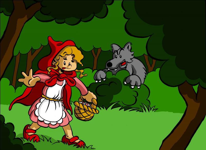 Quel est le titre de ce conte où une jolie petite fille va porter une galette Saint-Michel et un pot de beurre d'Isigny allégé à sa mère-grand au fin fond des bois ?