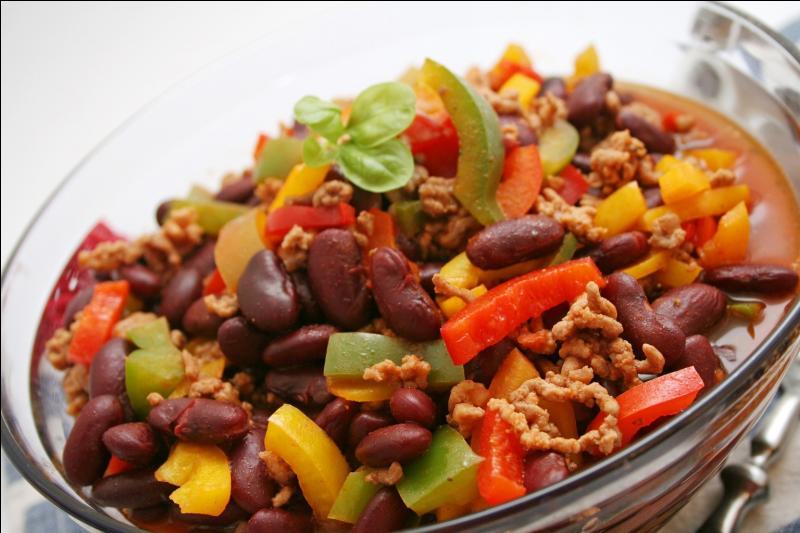 Quel est le légume de base utilisé pour le  chili con carne  ?