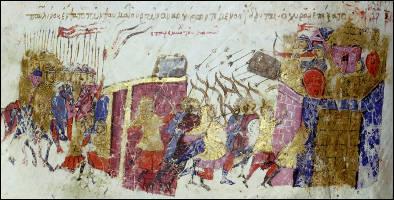 Les Arabes assiégèrent durant quatre ans la ville, en vain (674-678). Ce siège marqua leur premier grand échec militaire.