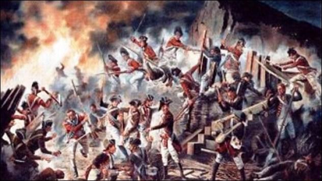 (1779-1783) Le Grand Siège, pendant toute la guerre d'indépendance américaine. Malgré des forces considérables, il se termine par l'échec de l'opération conjuguée, navale et terrestre franco-espagnole.