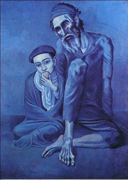 Quel grand peintre a connu une période artistique intitulée  Période bleue , car la couleur dominante de ses oeuvres était le bleu ?