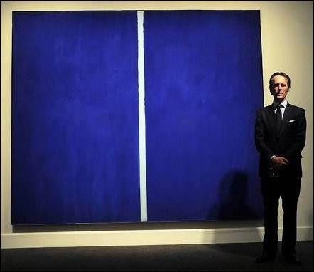 Devinez à quel prix ce tableau bleu (voir l'image ci-contre), a été vendu :