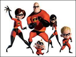 Quel est le titre de ce film d'animation où tous les membres de la famille sont des super héros ?