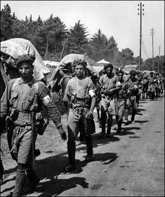 Lors de la campagne d'Italie, quel était le pourcentage de Maghrébins dans le CEF (corps expéditionnaire français) ?
