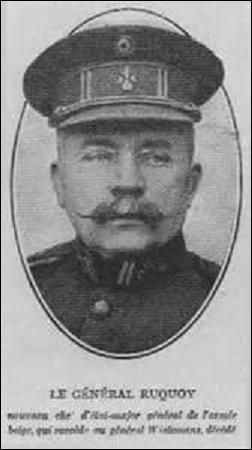 Baron, né en 1861, lieutenant-général belge, je commande de juin 1914 à juin 1915 le 3ème régiment de chasseurs à pied. Deux fois blessé par balles en octobre 1914, je reçois le 11 juin 1915 le commandement de la 5ème division d'armée et en 1917, promu chef d'état-major général de l'armée belge. M'éteignant en 1937, je suis :