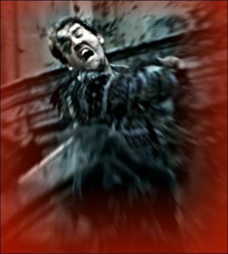 Quel commentaire Ron fait-il à propos du visage tailladé de Neville, alors qu'ils se retrouvent dans le tunnel qui relie Poudlard au pub d'Abelforth ?
