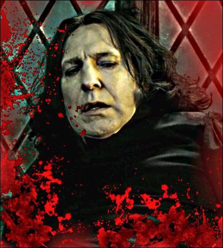 Dans quelle partie du corps de Severus Rogue les crochets de Nagini s'enfoncent-ils ?