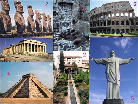 En quelle année fut éditée la déclaration officielle des  7 nouvelles merveilles  du monde ?