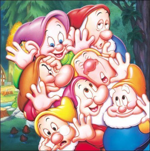 Voici les 7 nains : Grincheux, Dormeur, Prof, Atchoum, Timide, Joyeux . Il en manque un à l'appel ; lequel ?
