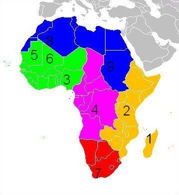 L'Afrique (carte géographique)