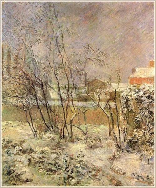 Qui a peint Le jardin sous la neige ?
