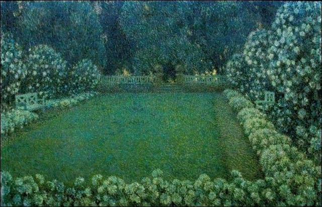 Qui a peint Le jardin blanc au crépuscule ?