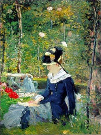 Qui a peint Jeune fille dans un jardin ?