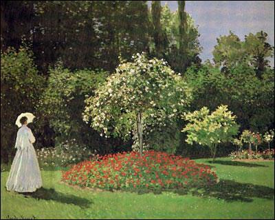 Qui a peint Femme au jardin ?