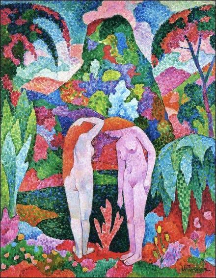 Qui a peint deux nus dans un jardin exotique ?