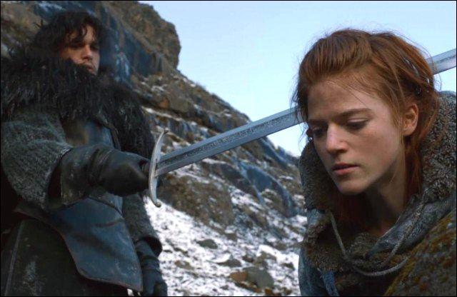 Que dit Ygrid à Jon Snow quand il est sur le point de lui couper la tête ?
