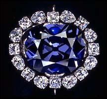 Cette pierre est un diamant bleu :