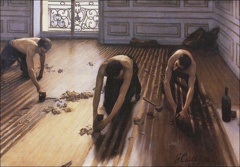 Qui a peint  Les raboteurs de parquet  ?