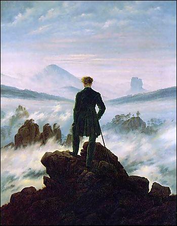 Qui a peint   le voyageur contemplant les nuages ?